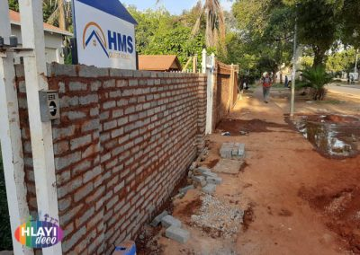 Boundary wall build and paint
