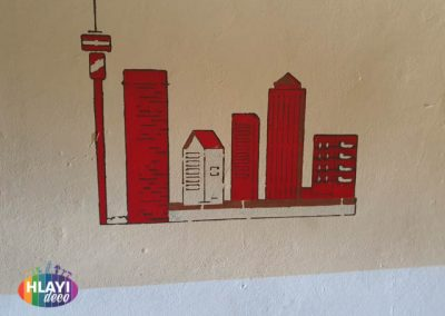 Tavern murals and painting for Castle Lager